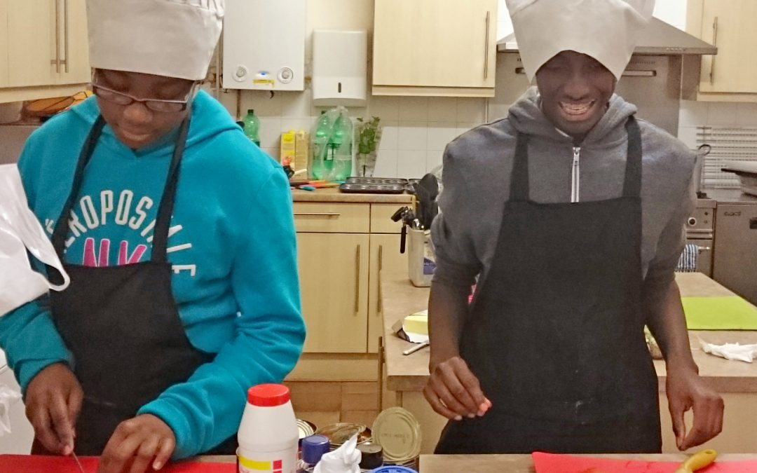 The young persons' cooking competition in East Croydon